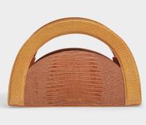 Tasche Arc aus eidechsen-geprägtem braunem Leder