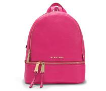 Rhea Zip Medium Backpack aus Ultra Soft rosanem Venus Leder