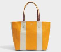 Shopper Tasche aus Exotik gelbem gebundenem Canvas