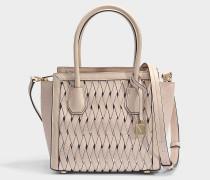 Mercer Studio Medium Messenger Tasche aus Soft rosanem geschmeidigem gewebtem Material