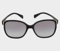 0PR 01OS Sonnenbrille aus schwarzem Acetat