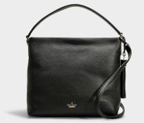Kleine Handtasche Natalya aus schwarzem Kalbsleder