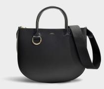 Handtasche Marion aus schwarzem Kalbsleder