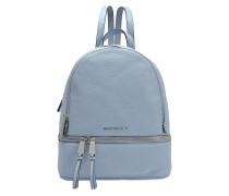Rhea Zip Medium Backpack aus Pale blauem Soft Venus Leder