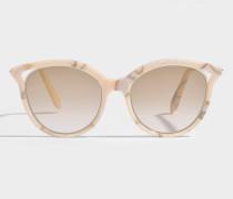 Cut Away Kitten Sonnenbrille aus rosanem Marble Acetat