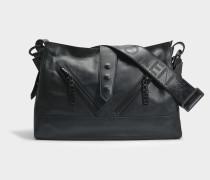 Kalifornia Large Shoulder Bag aus schwarzem Kalbsleder