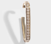 Mono-Ohrring Noble Staple Pavée One Line aus 14 Karat Gold und Diamanten