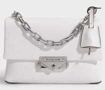 Crossbody Bag Cece Xs Chain aus cremefarbenem Leder
