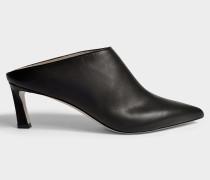 Mira Pointed Mule Schuhe aus Soft gekörntem Kalbsleder