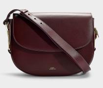 Handtasche Odette aus Bordeauxrotem Kalbsleder