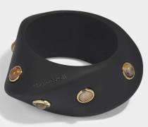 Darda Bracelet aus schwarzem Harz und Metall