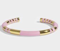 Positano Bracelet in Babyrosanem und aus 18K vergoldetem Messing