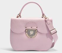 Kleine Handtasche Ducale aus rosa Kalbsleder