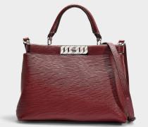 Handtasche Veronika Top Handle aus rotem Kalbsleder