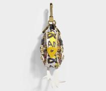Bird Schlüsselanhänger aus gelbem Kaschmir