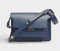 Medium Trunk Tasche aus Orion blauem Saffiano Leder