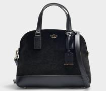 Tasche Lottie Cameron Street Velvet aus schwarzem Samt