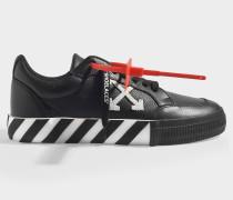 niedrige Sneakers Arrow Vulcanized in schwarzem Canvas
