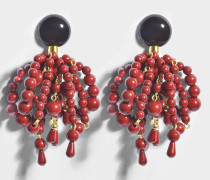 Perlen Ohrringe aus Burgundy Harz