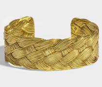 Braided Cuff aus 18K vergoldetem Messing