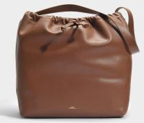 Lena Tasche aus Cad Noisette glattem Kalbsleder