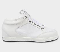 Miami Choo Me Sneaker aus weißem Canvas und Leder