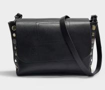 Readymade Clutch Tasche aus schwarzem Kuhleder