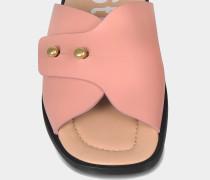 Jilly Schlappen Schuhe aus rosanem Kalbsleder