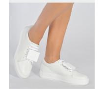 Adriana Sneaker aus weißem Kalbsleder