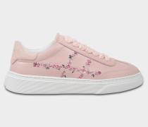 H258 Traditonal Sneaker aus rosanem Wildleder