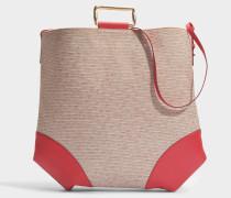 Oversize Tote Bag mit Metall aus Espelette Baumwolle