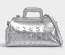 Kleine Handtasche Ghost aus silbernem Kalbsleder