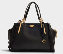 Dreamer 36 Bag in Black Mixed Leather With Pebble Calfskin