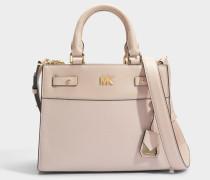 Mott Uptown Mini Messenger Tasche aus Soft rosanem Pebble Leder