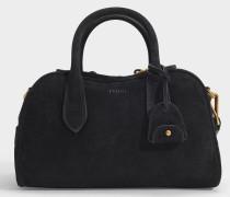 Tasche Sullivan aus schwarzem Wildleder
