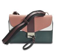 Kanye Shoulder Bag aus dunkelem grünem Ziegenleder