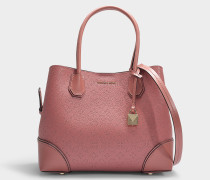 Shopper mit Zip Mercer Gallery Medium aus rosa genarbtem Kalbsleder