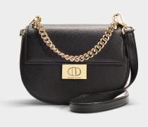 Handtasche Rita Greenwood Place aus schwarzem Kalbsleder