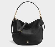 Chelsea 32 Hobo Tasche aus schwarzem Kalbsleder