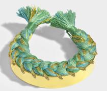 Copacabana Bracelet aus grünem Emerald Schmucksteinen und 18K vergoldetem Messing