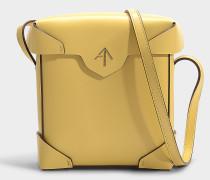 Mini Handtasche Pristine aus pflanzlichem Kalbsleder gelb