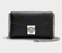 Kleine Handtasche Millie Park Avenue aus schwarzem Kalbsleder