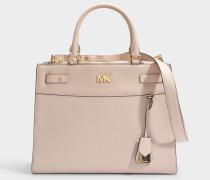 Mott Uptown Large Satchel Tasche aus Soft rosanem Pebble Leder