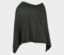 Knitted Cape Tuch aus army grünemem Kaschmir und Wolle