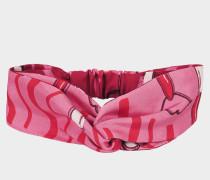 Lipstick Headband aus Cindy rosaner Seide