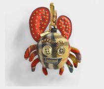 Crab Charm Taschenaccessoire aus gelbem Leder