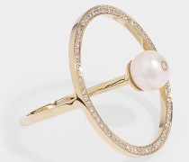 Ring Reine aus 14 Karat Gold und Diamanten