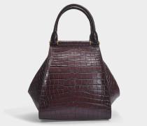 Shopper Anita Medium aubergine kroko-geprägtem Kalbsleder