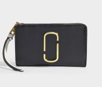 9575db083e56 Portemonnaie Compact Snapshot aus Leder mit schwarzer  Polyurethanbeschichtung. Marc Jacobs