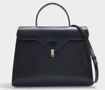 Handtasche Musa aus schwarzem Kalbsleder